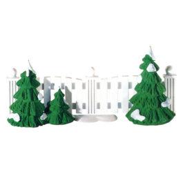 Frosty Tree Lined Picket Fence $6.50 SALE $4.00