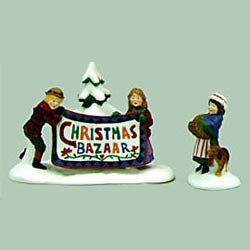 Christmas Bazaar Sign 2pcs