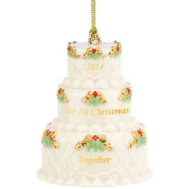 2014 Our First Christmas Together Cake Ornament