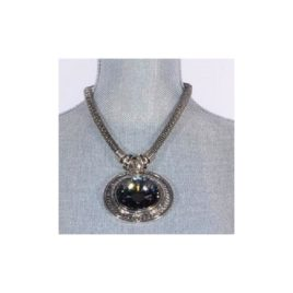 Jacqueline Kent Silver Necklace with Crystal