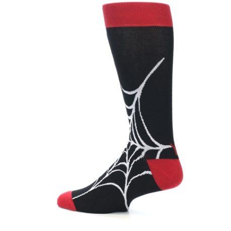 21954-Black-White-Spider-Web-Men's-Dress-Socks-Yo-Sox13[1]