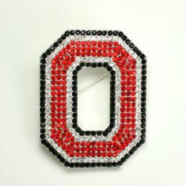 Ohio State Crystal Logo Pin